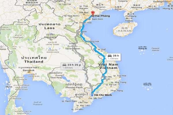 Dịch vụ vận chuyển hàng hóa 2 chiều Sài Gòn - Hải Phòng