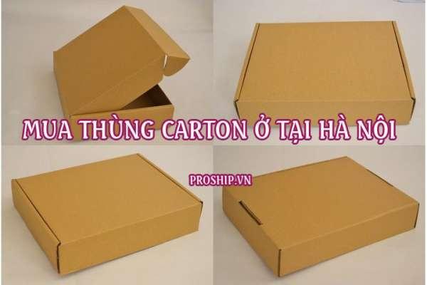 Chuyên mua bán thùng giấy carton giá rẻ ở tại Hà Nội
