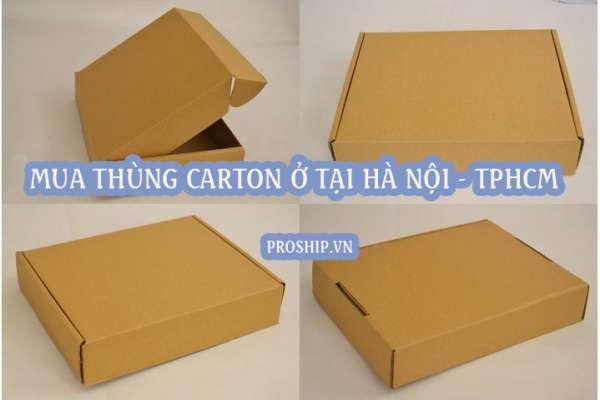 Mua thùng giấy carton ở đâu TPHCM - Hà Nội?