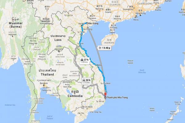 Dịch vụ vận chuyển gửi hàng từ Nha Trang đi Bắc Giang