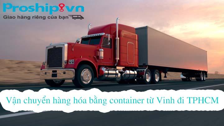 van chuyen hang hoa bang container tu vinh di tphcm
