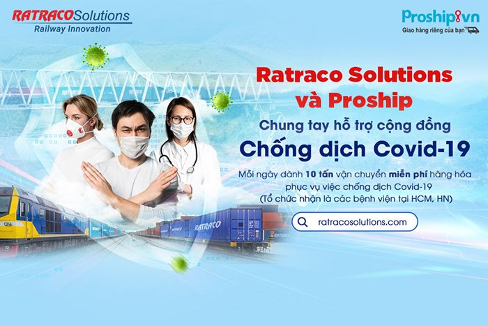 Proship phoi hop cung ratraco solutions chung tay day lui dich benh covid-19
