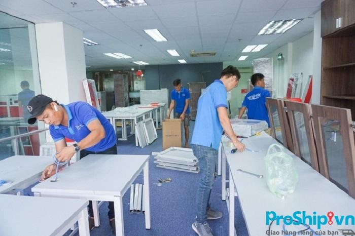 Proship nhận chuyển văn phòng trọn gói Nam Bắc bằng container
