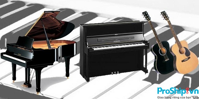 Dịch vụ vận chuyển đàn guitar, đàn Piano, nhạc cụ an toàn của Proship.vn