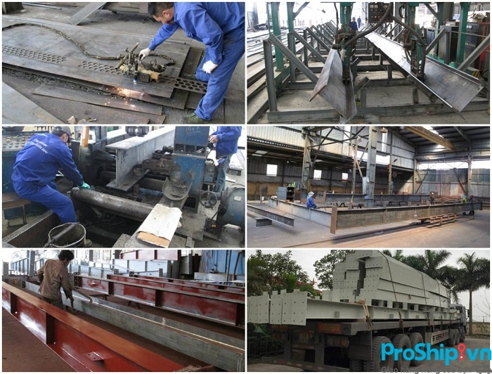 Proship nhận vận chuyển kết cấu thép toàn quốc an toàn uy tín