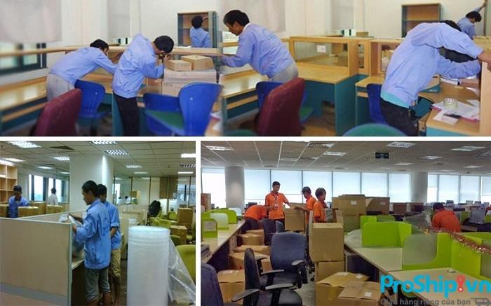 Proship nhận vận chuyển văn phòng trọn gói giá rẻ