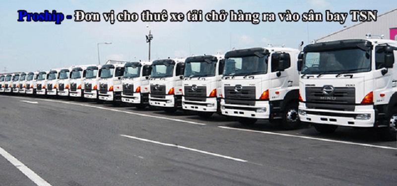 Dịch vụ cho thuê xe tải chở hàng ra vào sân bay TSN