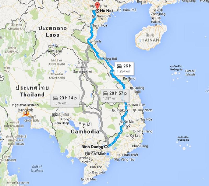 Dịch vụ vận chuyển hàng hóa 2 chiều Hà Nội - Bình Dương