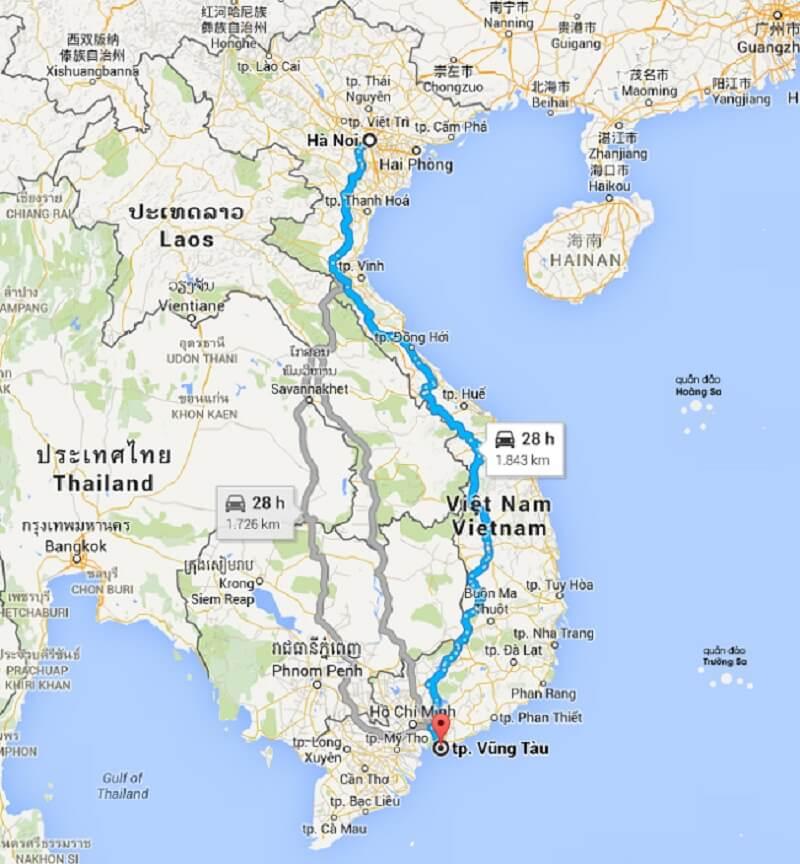 Dịch vụ chuyển phát nhanh từ Hà Nội vào Vũng Tàu