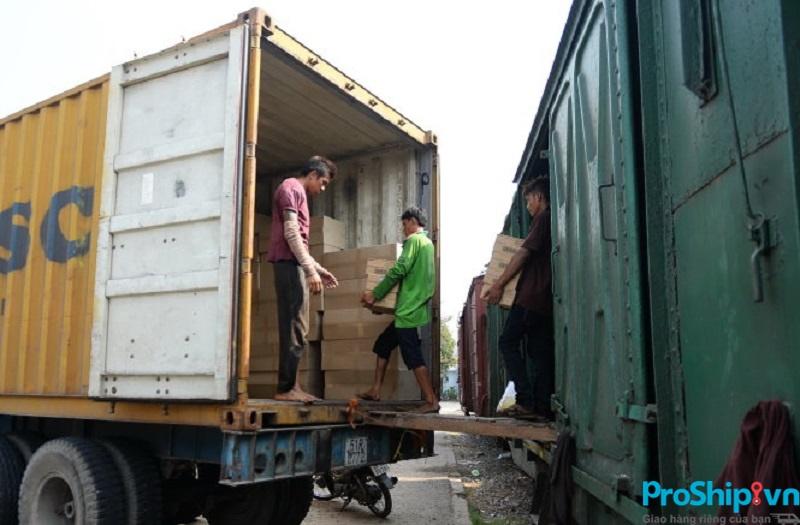 Quy trình vận chuyển hàng lẻ bằng đường sắt Bắc Nam của Proship