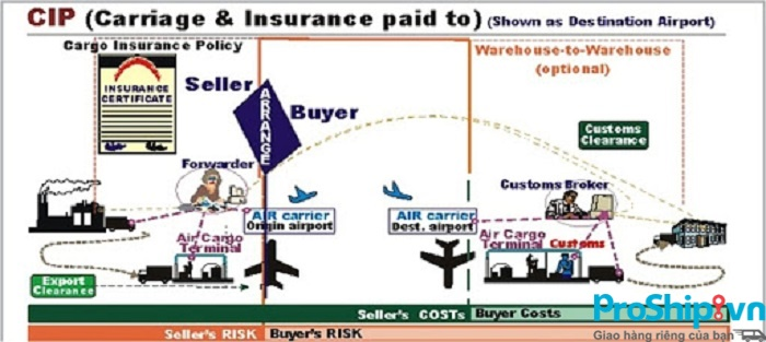 Điều kiện CIP là gì? Điều kiện về cước phí và bảo hiểm trả tới CIP