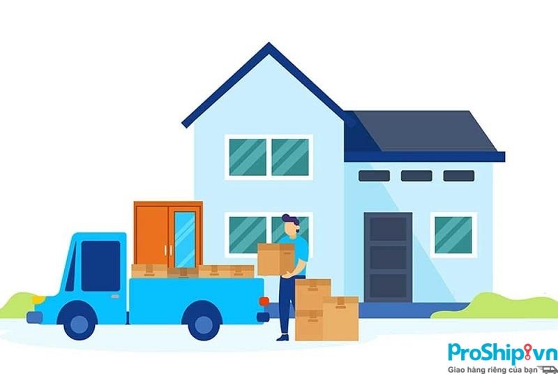 Proship nhận chuyển nhà từ TPHCM đi 62 tỉnh thành bằng Container và đường sắt