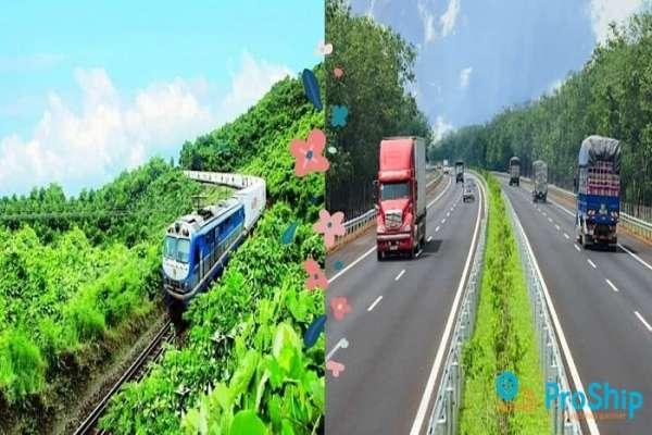 Dịch vụ vận chuyển hàng hóa liên tỉnh bằng đường bộ, đường sắt giá rẻ