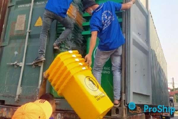 Dịch vụ vận chuyển nhựa gia dụng bằng Container tuyến Bắc Nam giá rẻ