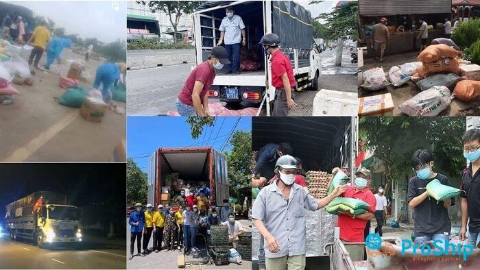 Proship nhận vận chuyển thực phẩm tươi, rau củ vào Đồng Nai, Bình Dương uy tín